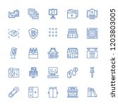 collection of 25 search outline ... | Shutterstock .eps vector #1203803005