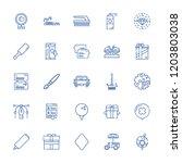 collection of 25 stroke outline ... | Shutterstock .eps vector #1203803038