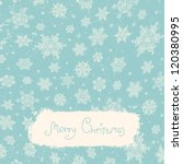 vintage christmas card with the ... | Shutterstock . vector #120380995