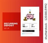 recurring deposit money app for ... | Shutterstock .eps vector #1203815992