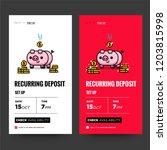 recurring deposit money app for ... | Shutterstock .eps vector #1203815998