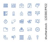 collection of 25 open outline... | Shutterstock .eps vector #1203819922