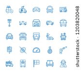 collection of 25 automobile... | Shutterstock .eps vector #1203820048