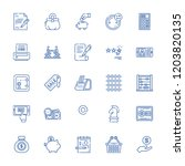 collection of 25 finance... | Shutterstock .eps vector #1203820135