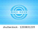 injured water concept style... | Shutterstock .eps vector #1203831235