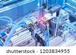 robotic pneumatic input to... | Shutterstock . vector #1203834955