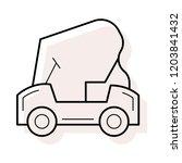 golf car  vehicle  game  | Shutterstock .eps vector #1203841432