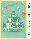 abstract merry christmas... | Shutterstock .eps vector #1203842815