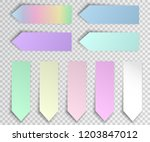 post sticky note isolated. set... | Shutterstock .eps vector #1203847012