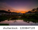 beautiful golden hour at kali... | Shutterstock . vector #1203847135