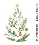christmas composition in the... | Shutterstock . vector #1203855148
