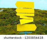 Signpost With  Unlabeled Yellow ...