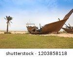 Broken Boat On Beach   Dammam ...