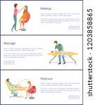 pedicure and pedicurist visage...   Shutterstock .eps vector #1203858865