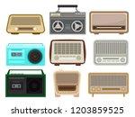 flat vector set of different... | Shutterstock .eps vector #1203859525