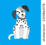 dog puppy with spots  canine... | Shutterstock .eps vector #1203862078