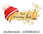 best holiday sale lettering... | Shutterstock .eps vector #1203862612