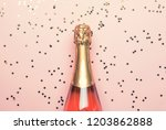 christmas or new year pink... | Shutterstock . vector #1203862888