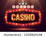 online casino banner with...   Shutterstock .eps vector #1203864148