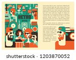 retro party poster. vector... | Shutterstock .eps vector #1203870052