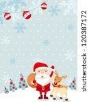 winter scene santa claus | Shutterstock .eps vector #120387172