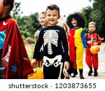 Young Kids Trick Or Treating...