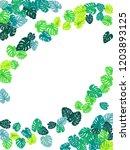 sea green tropical jungle...   Shutterstock .eps vector #1203893125