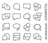 vector line speech bubbles... | Shutterstock .eps vector #1203895732