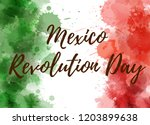 mexico revolution day.... | Shutterstock .eps vector #1203899638