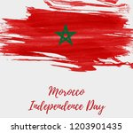 morocco independence day... | Shutterstock .eps vector #1203901435