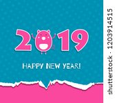 2019 happy new year greeting... | Shutterstock .eps vector #1203914515