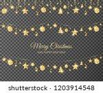 christmas golden decoration... | Shutterstock .eps vector #1203914548