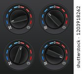 car dashboard knob switch set.... | Shutterstock .eps vector #1203918262
