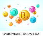 realistic detailed 3d falling... | Shutterstock .eps vector #1203921565