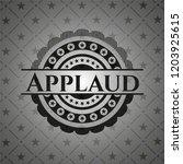 applaud dark icon or emblem | Shutterstock .eps vector #1203925615