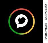 tweet   app icon | Shutterstock .eps vector #1203931855