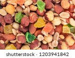 background of various nuts and...   Shutterstock . vector #1203941842