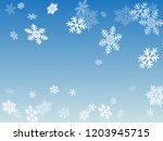 winter snowflakes border magic... | Shutterstock .eps vector #1203945715
