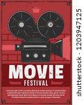 movie or cinema festival ... | Shutterstock .eps vector #1203947125