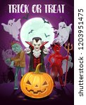halloween holiday  trick or... | Shutterstock .eps vector #1203951475