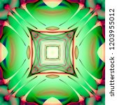 abstract 3d geometric pattern.... | Shutterstock . vector #1203955012