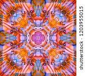 abstract 3d geometric pattern.... | Shutterstock . vector #1203955015