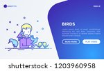 ornithologist with different... | Shutterstock .eps vector #1203960958