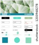 light green vector ui ux kit in ...