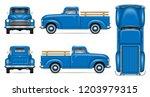 classic pickup truck vector... | Shutterstock .eps vector #1203979315