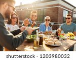 leisure and people concept  ... | Shutterstock . vector #1203980032