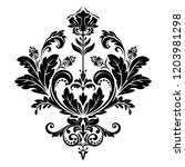 damask graphic ornament. floral ... | Shutterstock . vector #1203981298