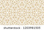 the geometric pattern with...   Shutterstock . vector #1203981505