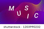 music wave design. music summer ... | Shutterstock .eps vector #1203990232