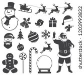 set of christmas icons. vector... | Shutterstock .eps vector #1203993832